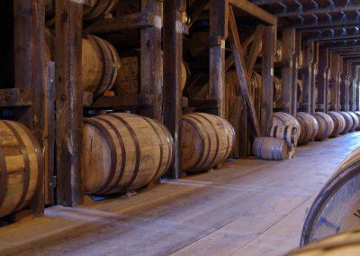Ein Fasslager in der Whiskey-Stadt Bardstown in Kentucky.
