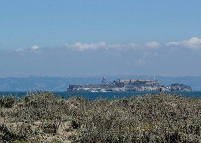 Kalifornien: Die Gefängnisinsel Alcatraz bei San Francisco.