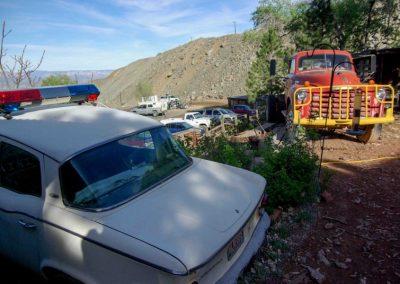 Recht und Ordnung und mitunter rüde Methoden, dafür steht die Polizei in Arizona. Doch dieser Polizeiwagen hat längst ausgedient.