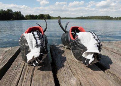 Überall Seen. Beinahe hinter jeder Kurve bietet sich die Gelegenheit zu einem spontanen Bad.